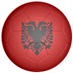 Albania Football Flag 25mm Flat Back